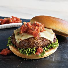 Southwest Salsa Burgers | Dinner Tonight | a href=http://www.myrecipes.comMyRecipes.com/a   I can't wait to make this.