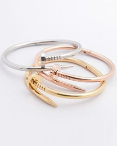 2016 Spring-Summer Ready-to-Wear Fashion Week Stainless Steel Jewelry, Bangles, Bracelets, Bracelet Designs, Gold Rings, Ready To Wear, Spring Summer, Rose Gold, Nails