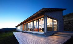 "Fantastic Deck and windows. This is ""the houl"" and is either carbon neutral or energy neutral."
