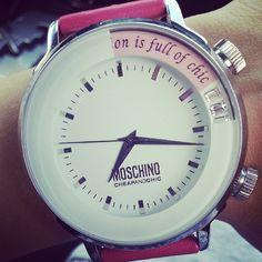 Photo by uporushka  #moschino #mymoschino #watch #cheapandchic