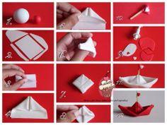 Barca di carta in FIMO. Gum paste origami boat www.facebook.com/MariasforHomeBakedCakesCupcakes