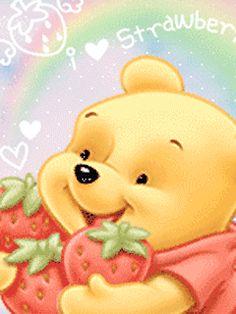Cute Glitter Graphics | Animated GIFs » Love » cute kawaii winnie pooh i love...