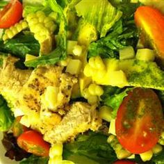 Cilantro-Lime Dressing Allrecipes.com. After having the best salad ever at Rozelle Court at the Nelson-Atkin Museum in Kansas City Missouri, I went on the hunt for a Cilantro Lime dressing so I could make this fabulous salad at home. Yum!