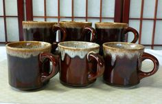 Vintage 50's USA Coffee Cups Made in Usa, Teacup or Mug Set of 6 by Vintage42Day on Etsy