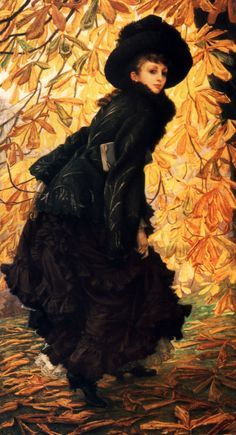James Jacques Joseph Tissot  October, 1877, oil on canvas, 108.7 x 216cm, Montreal Museum of Arts, Montreal, Canada.
