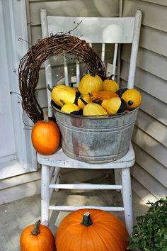 Autumn Porch Decorating:  via Happy At Home