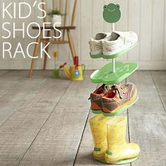 kid's shoes rack