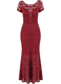 Red+Short+Sleeve+Backless+Lace+Maxi+Dress+29.00