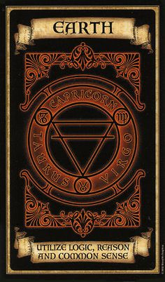 """Elements Earth:  """"#Earth,"""" ~ Madame Endora Fortunetelling Cards."""