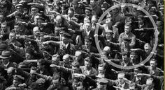 This man is individualism while others are collectivism. This man refused the nazi salute.