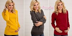 The casual look and cute fit of these hoodies make them the perfect option for a cool fall day! Only $