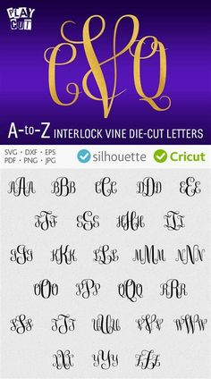 Image result for Interlocking Monogram Font Free Download Cuttable
