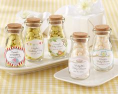 60 Personalised Vintage Milk Bottle Favours Christening/Baby Showers/Birthdays   eBay