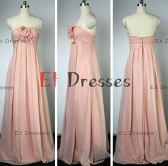Sweetheart with flowers in front Long bridesmaid dress ,prom dress