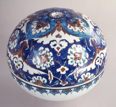 ball; Ottoman dynasty; 16thC; Iznik Glazes For Pottery, Ceramic Pottery, Persian Blue, Antique Tiles, Turkish Tiles, Museum Shop, Egg Art, Glazed Ceramic, Detailed Image