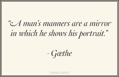 #goethe #manners #quotes
