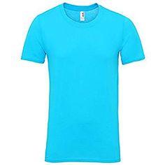 "Anvil - Camiseta - para hombre azul Azul Caribe Large / 40""-42"""