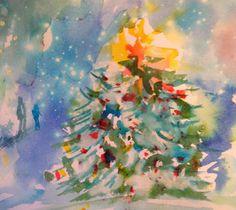Watercolor Wanderings by Christy Lemp: Merry Christmas!
