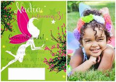 Fairy invitation using FREE software and FREE printables!