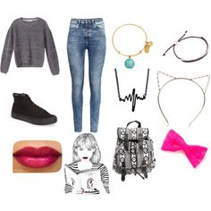 Back To School by penguins-lily on Polyvore featuring polyvore moda style Victoria's Secret H&M Vans Wet Seal Links of London Alex and Ani Boohoo claire's