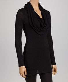 Take a look at this Black Cowl Neck Tunic on zulily today!