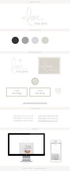 Brand reveal for Love, Lila Ann | Branding | Brand Board | Logo Design | Graphic Design | Design Inspiration | Logo Ideas | Brand Ideas | Website Design | Color Palette | August and White