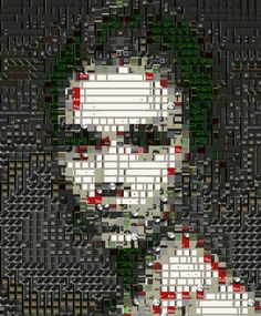 A girl's face constructed out of fragments of UI elements. No PS filtering / blending whatsoever involved. Pure Processing. Uses Propellerheads Thor synthesizer UI as the fragment base.