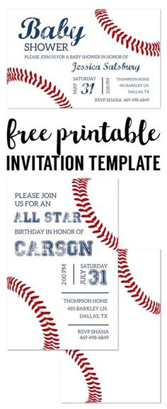 Baseball Ticket Invitation Template | Pinterest | Ticket invitation ...