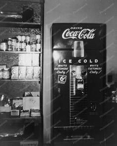Drink Coca Cola Vending Machine 1951 8x10 Reprint of Old Photo | eBay