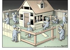#ClayBennett Cartoon Archive: The #Security Fence.