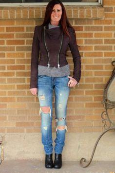 Haider Ackermann~Purple Double Zip Leather Jacket~36/US 4~ITALY~$3,285 **RARE**