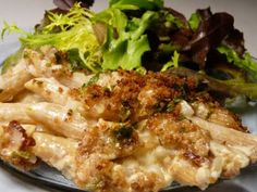 posh mac 'n' cheese — For me, no bacon, but this sounds delish!