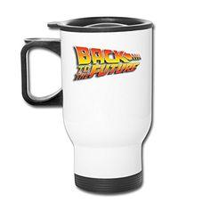 Back To The Future Michael J. Fox Travel Coffee Mugs Photo Mugs Cup @ niftywarehouse.com #NiftyWarehouse #BackToTheFuture #Movie #Film #Movies #Gifts