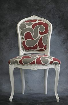 Vintage French Chair $525 - not so much for the price, but I love that fabric!