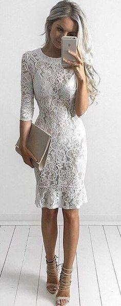 #summer #style |Goddess Kleopatra Clothing Bianco Lace Dress