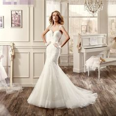 Find More Wedding Dresses Information about Juliana New Lace Mermaid Wedding Dresses 2017 With Appliques Button Backless Organza Puls Size Bridal Gowns Robe De Mariage WD60,High Quality lace mermaid wedding dress,China mermaid wedding dresses Suppliers, Cheap wedding dress from Juliana Wedding Dresses Store on Aliexpress.com