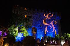 ALMA PROJECT @ Castello di Vincigliata - Facade lighting - Initials projection - party lighting - David Bastianoni Photo