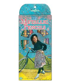 Take a look at this Bicycle Girl Metallic Colored Pencil - Set of 12 today!