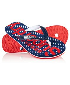 Superdry women's all over print flip flops. These beach flip flops feature an all over polka dot print on the sole and has a raised Superdry logo on the upper strap. The flip flops are finished with a Superdry logo on underside of the sole. | eBay!