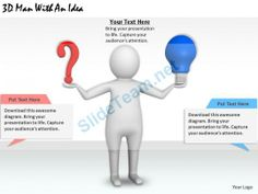 1113 3D Man with an Idea Ppt Graphics Icons Powerpoint #Powerpoint #Templates #Infographics