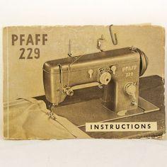 Vintage 1950s Pfaff 229 Manual Sewing Machine by Revvie1 on Etsy, $20.00