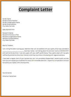 An employee complaint letter is a way for employees to make a claim letter examples complaint template sample and response example sawyoo pronofoot35fo Gallery