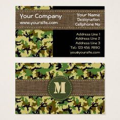 Hunter stylish military camouflage camo pattern business card woodland camouflage business card colourmoves