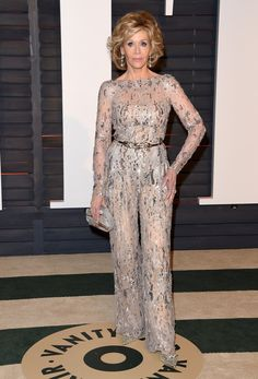 Pin for Later: 28 Reasons I'll Always Believe Jane Fonda Is the Best Dressed Woman in Hollywood . . . Or Too Much Silver