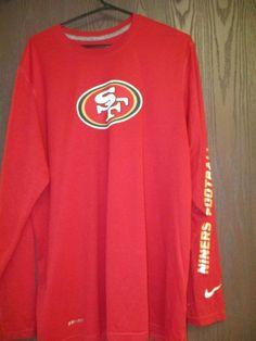 7c9d07a5cdf888 SAN FRANCISCO 49ers Niners Football Long Sleeve NIKE DRI FIT Red Shirt