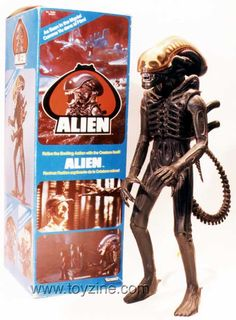 1979 Alien Action Figure: Had this all the way into college. Then my junior year he took a dive off the shelf and his head broke off. No acid blood though, fortunately. Alien Action Figures, 20th Century Fox, Alien 1979, Kenner Toys, Ideal Toys, Sci Fi Horror, Retro Toys, 1970s Toys, Classic Toys