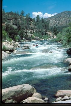White water rafting  Kern River in the Sequoia NF