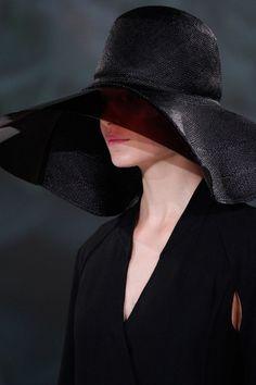 I get a big black hat every year! Dali, Black Church, Goth Dress, Wearing A Hat, Cool Hats, Head And Neck, Fashion Essentials, Big Black, Shades Of Black