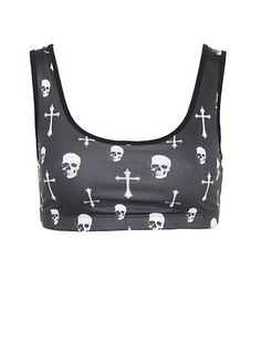 Skull Cross Sports Bra | Hot Topic. Finally, a sports bra for derby girls!