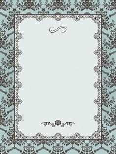 Ornate frame on seamless damask background. Graphic Design Portfolio Examples, Seamless Background, Eps Vector, Birds In Flight, Damask, Retro Fashion, Frame, Illustration, Floral